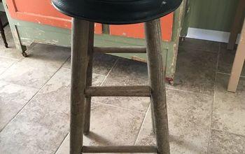 vintage bar stool gets makeover
