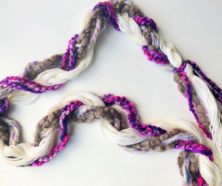 yarn braided garland