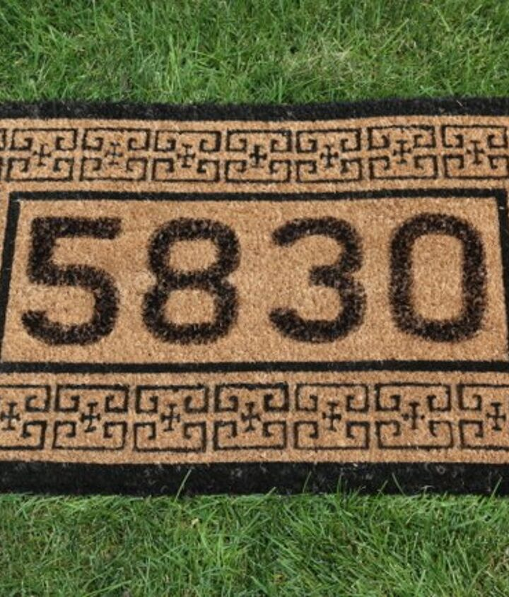s adorable address plaques to dress up your doors, Simple but creative