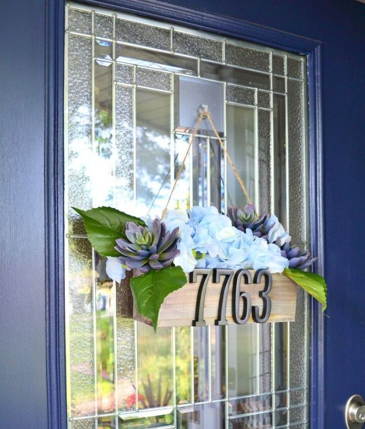 s adorable address plaques to dress up your doors, Spring by your door