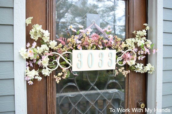 s adorable address plaques to dress up your doors, Check out this beauty