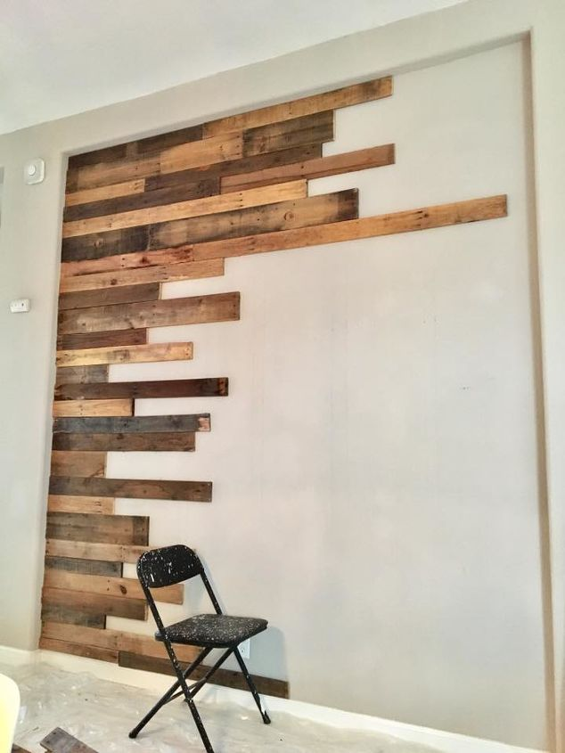 s update your dining room on a budget, Starting our pallet wall