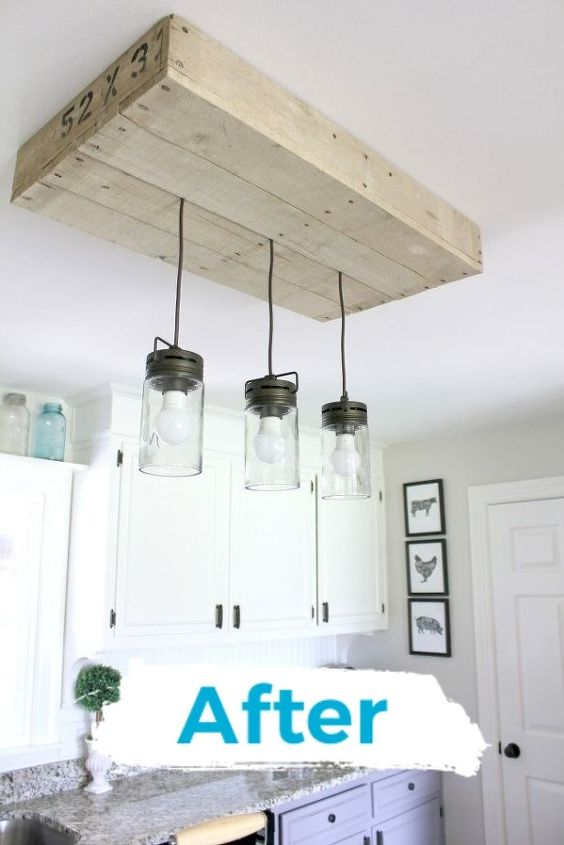 farmhouse pallet kitchen light box
