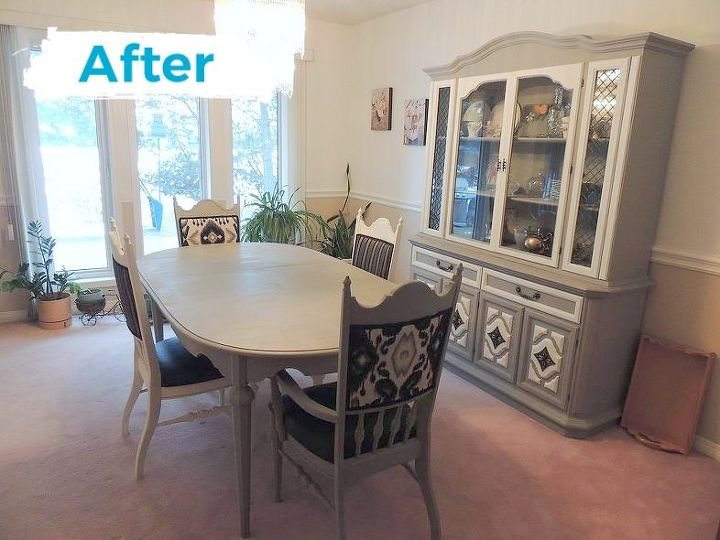 1950 s dining set makeover