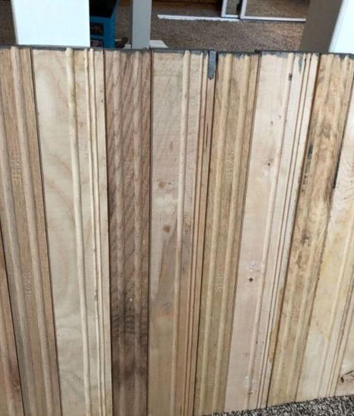 Hardwood planks glued