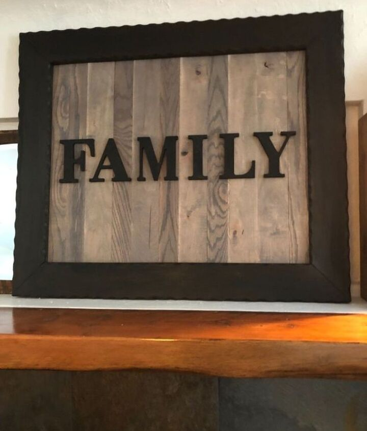 Finish project family sign love it
