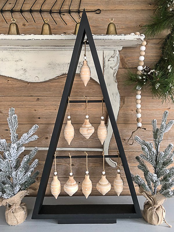 diy christmas tree made from scrap wood