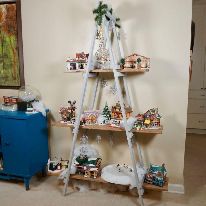 a frame ladder alternative christmas tree