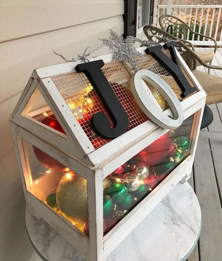 s 19 diy christmas decor ideas that ll rock your holiday, How about a terrarium turned JOY box