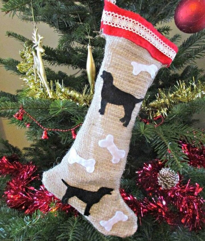 how to make a christmas stocking for your dog