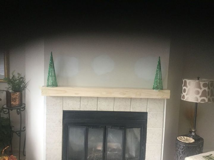 q how should i stain or paint my new mantel