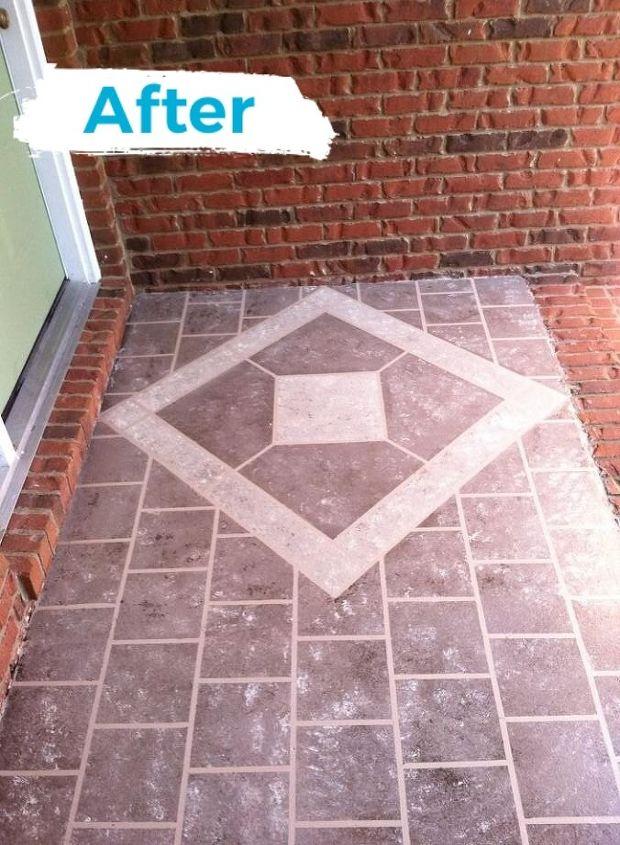 front porch faux tile