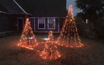 christmas yards easy light trees