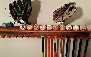DIY Baseball Bat Display Rack