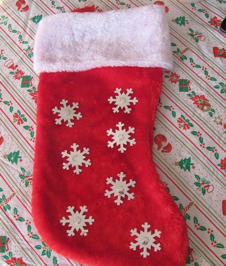 easy ways to dress up plain christmas stockings