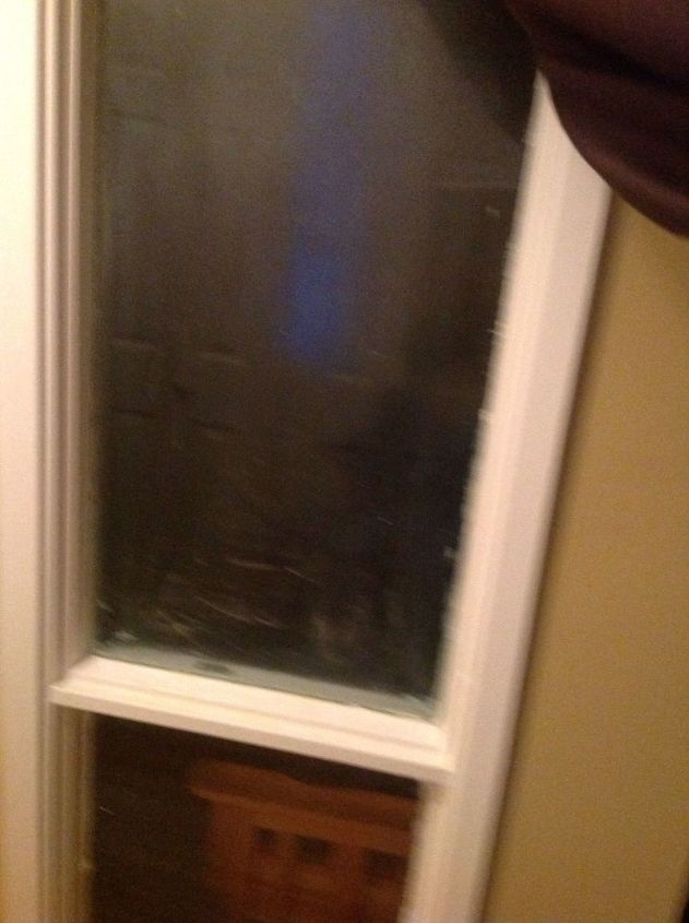 q how do i decorate my old window panel in a side door it s glass
