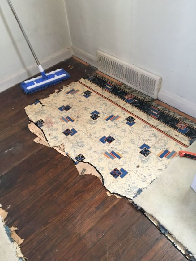 q how should i clean wood floors that have been covered up since 1946