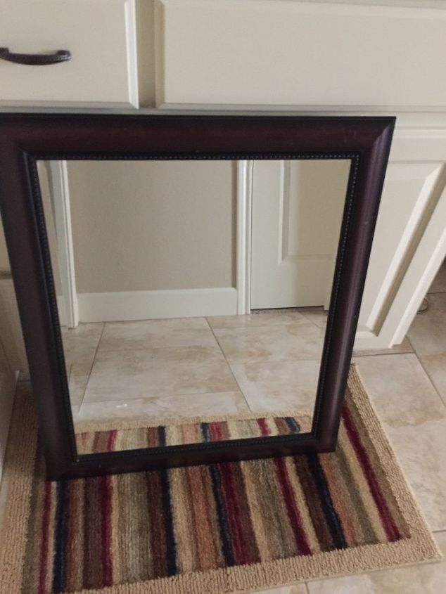 q how do i make this mirror frame look rustic or westhered