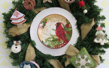 Bargain Plates Add Glam to a Holiday Mantle and Solve a Pesky Problem