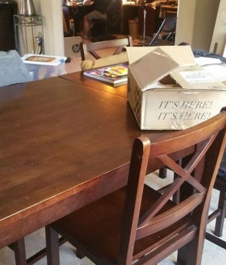 turn a pub style table into a farmhouse table for about 50