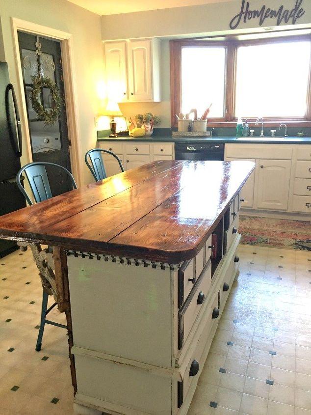 perfect size height kitchen island diy