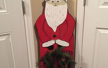 ironing board folk art santa