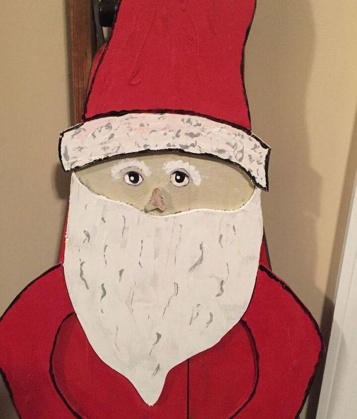 ironing board folk art santa