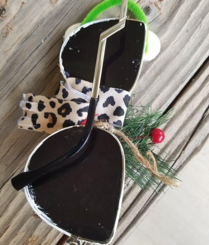 snowman sunglasses ornament