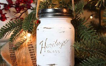 Mini Mason Jar Christmas Ornaments