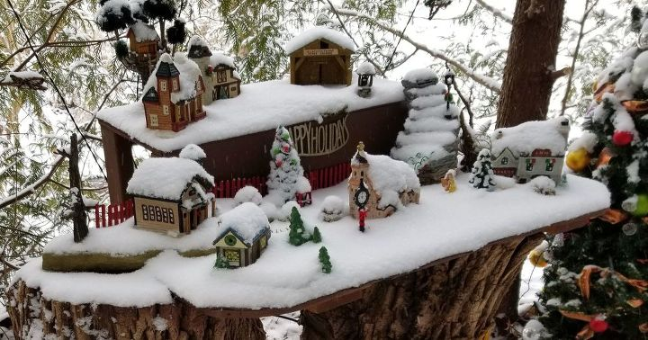 q we are putting together a christmas village outdoors any tips