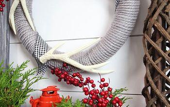 Easy DIY Wool Christmas Wreath