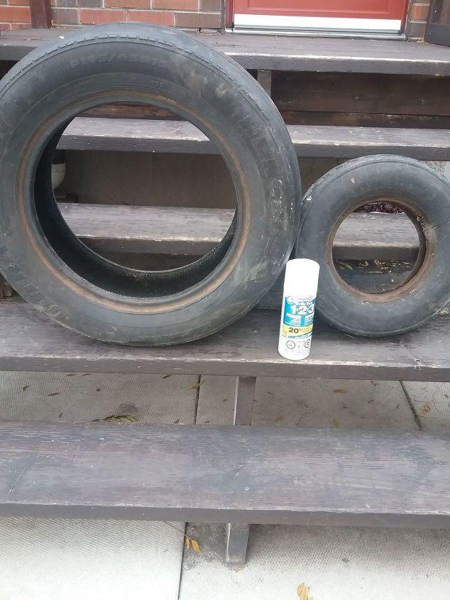 tire planter for the winter season