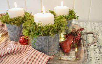 EASY CHRISTMAS CANDLE DIY