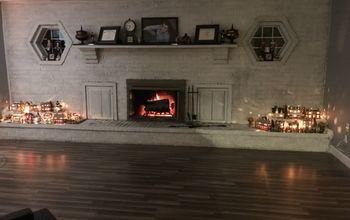 Whitewash Brick Fireplace Chalk Paint Accents