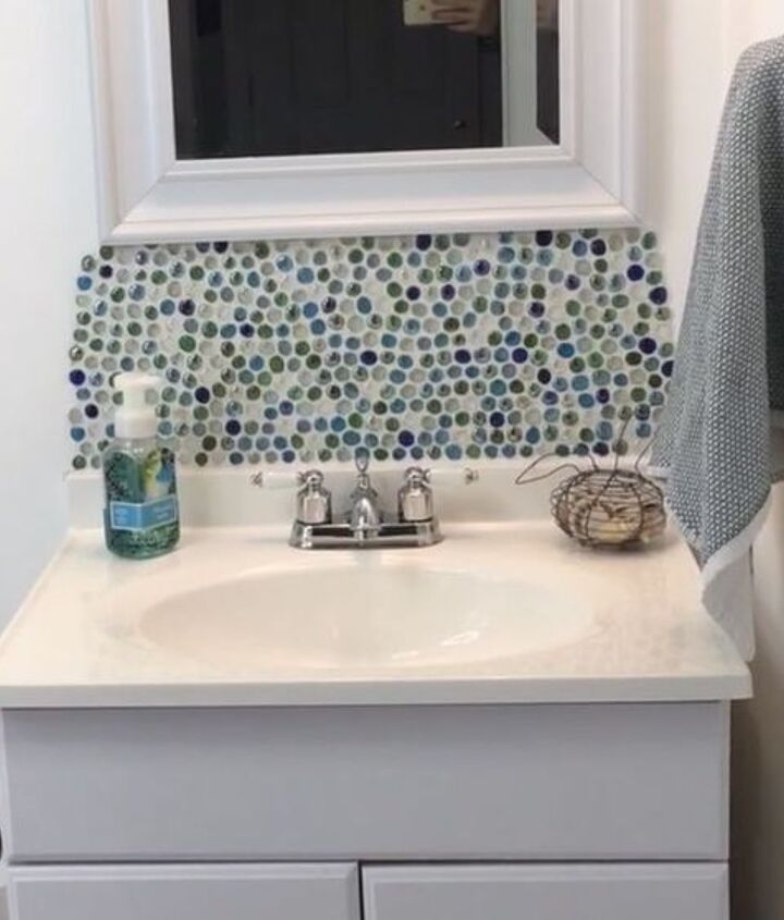 s 15 ways you can transform your bathroom for under 200, How about a backsplash above your sink