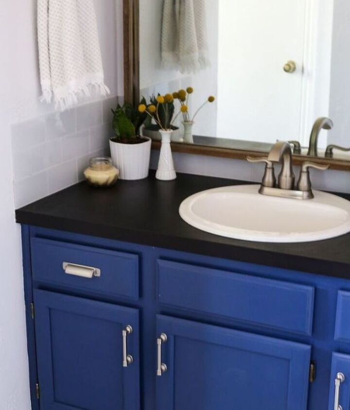 s 15 ways you can transform your bathroom for under 200, Replace your countertop for a new look