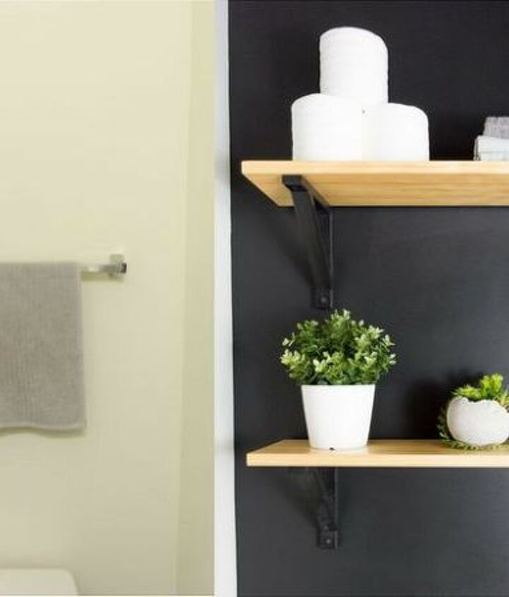 s 15 ways you can transform your bathroom for under 200, Add shelves and color into your bathroom