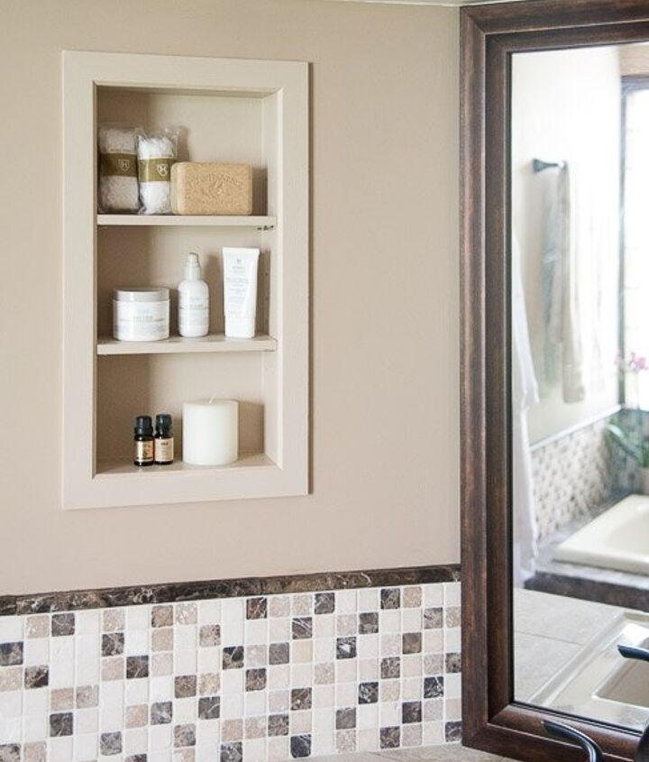 s 15 ways you can transform your bathroom for under 200, A Build in storage can help save some space
