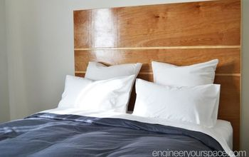 DIY Headboard That's Easy to Build and Install - No Holes Required!