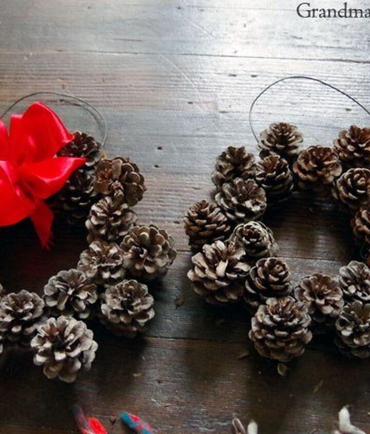 small diy pine cone wreath