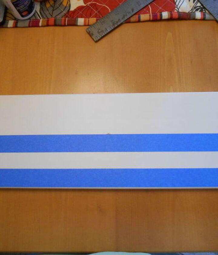 diy dry brush blanket striped ikea step stool