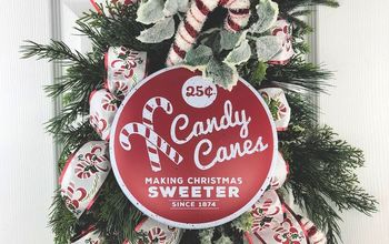 make a candy cane christmas swag