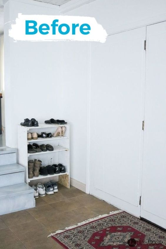 entryway mudroom makover