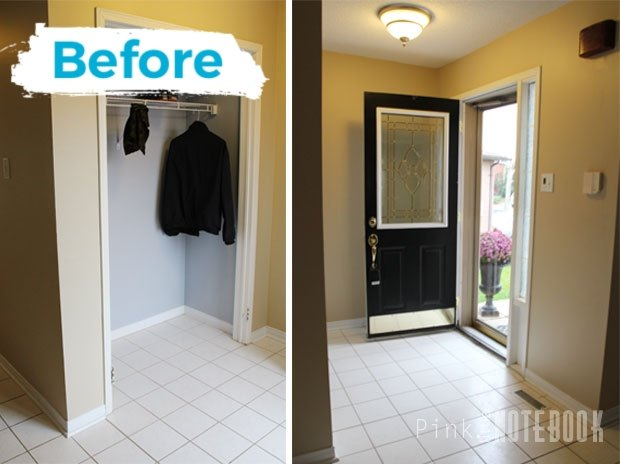 front foyer before after