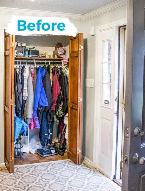 entry way closet makeover
