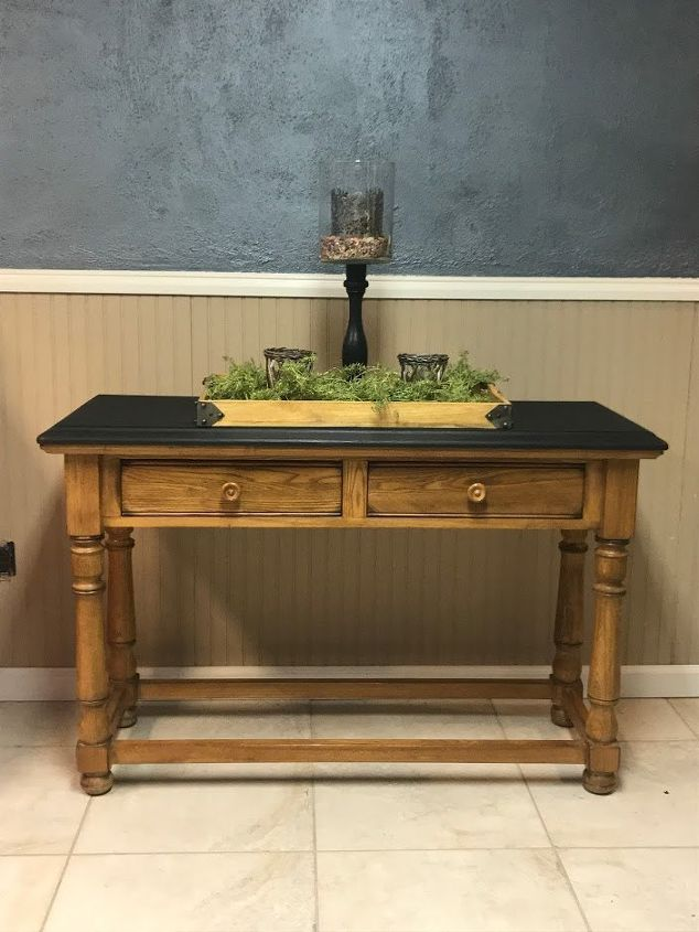 refinished cottage style sofa table