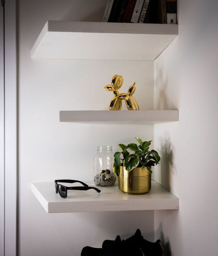 diy floating shelves made from scrap wood