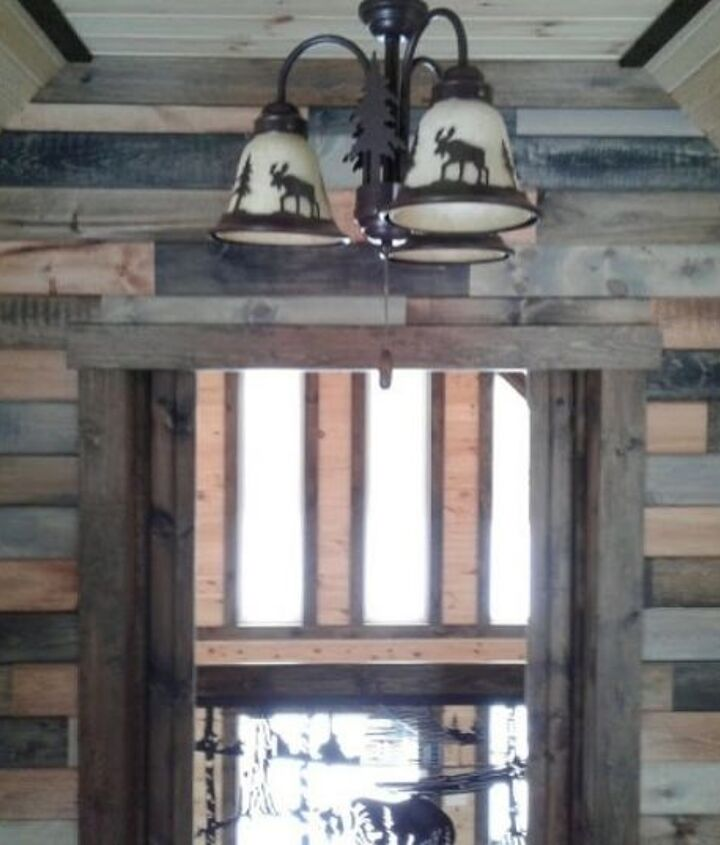 barn style wall made with scraps