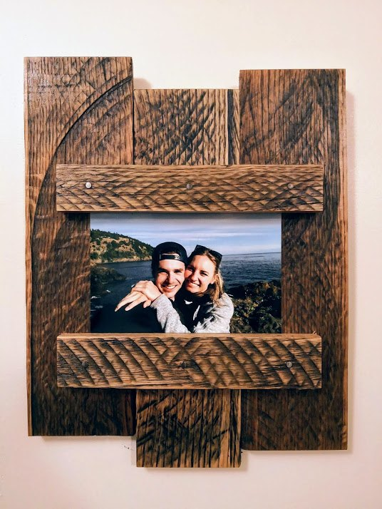 diy pallet wood picture frame, Final Product