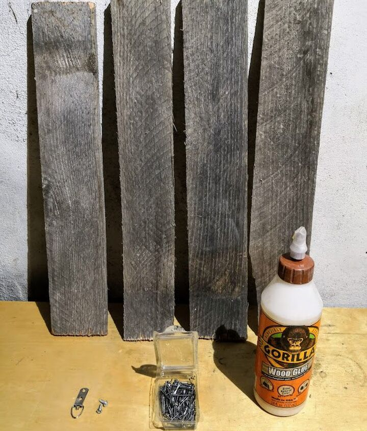 diy pallet wood picture frame, Materials